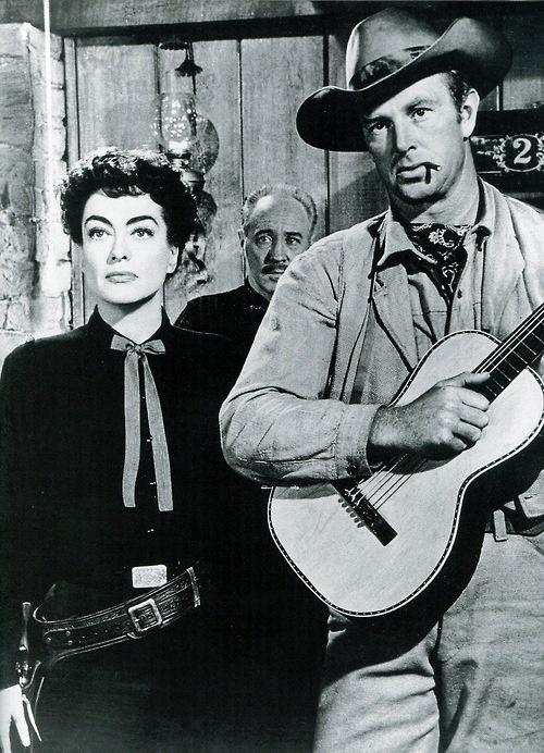 JOHNNY GUITAR (1954) - Joan Crawford and Sterling Hayden