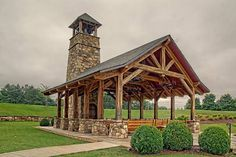 Timber frame pavilion - the Founders Chapel at in Johns Creek, Georgia