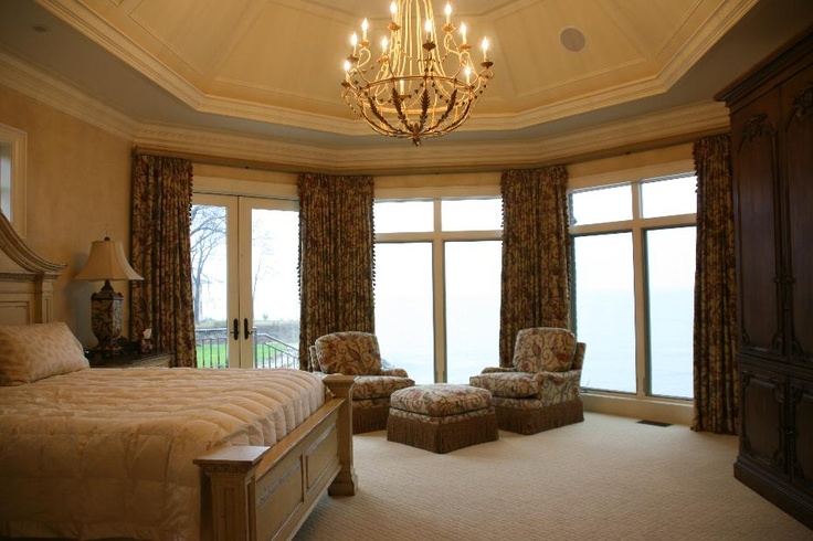elegant master bedroom with chandelier my home d pinterest