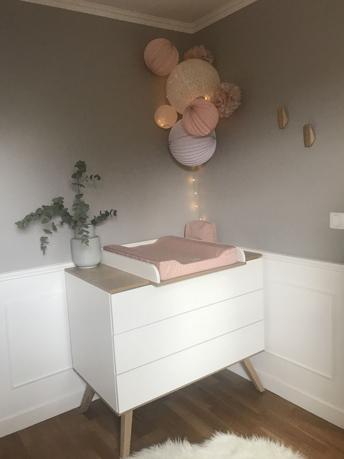 Chambre pastel rose et blanche # rose # pastille # blanche # chambre #girl #déco    – Chambre enfant