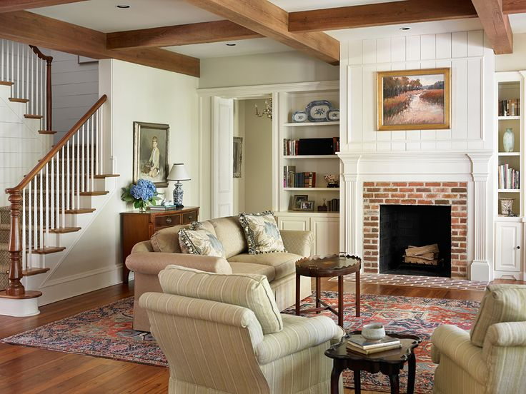 Intriguing Family Home Design With Green Surroundings: Cozy Traditional Living  Room Raised Cottage Family Home ~ SQUAR ESTATE Architecture Inspiration