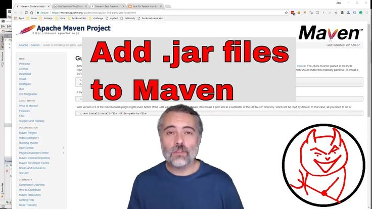 How to work with a .jar file in your local maven setup : Add Install Use dependency https://youtu.be/oFfnJ1yoDWc