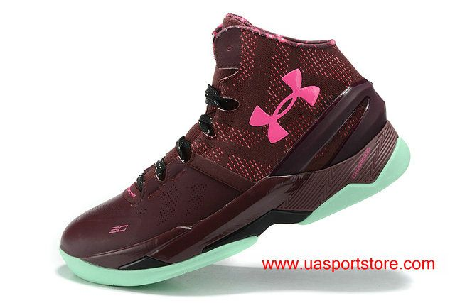 UA Curry 2 Under Armour BHM Mojo Pink Basketball Shoes For Women