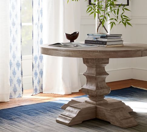 Linden Round Pedestal Dining Table In 2020 Dining Table