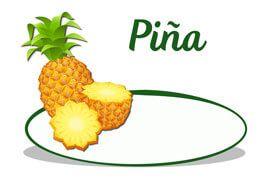 Cartel precio anana