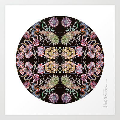 Le jardin Art Print by Milena Taranu - $17.68