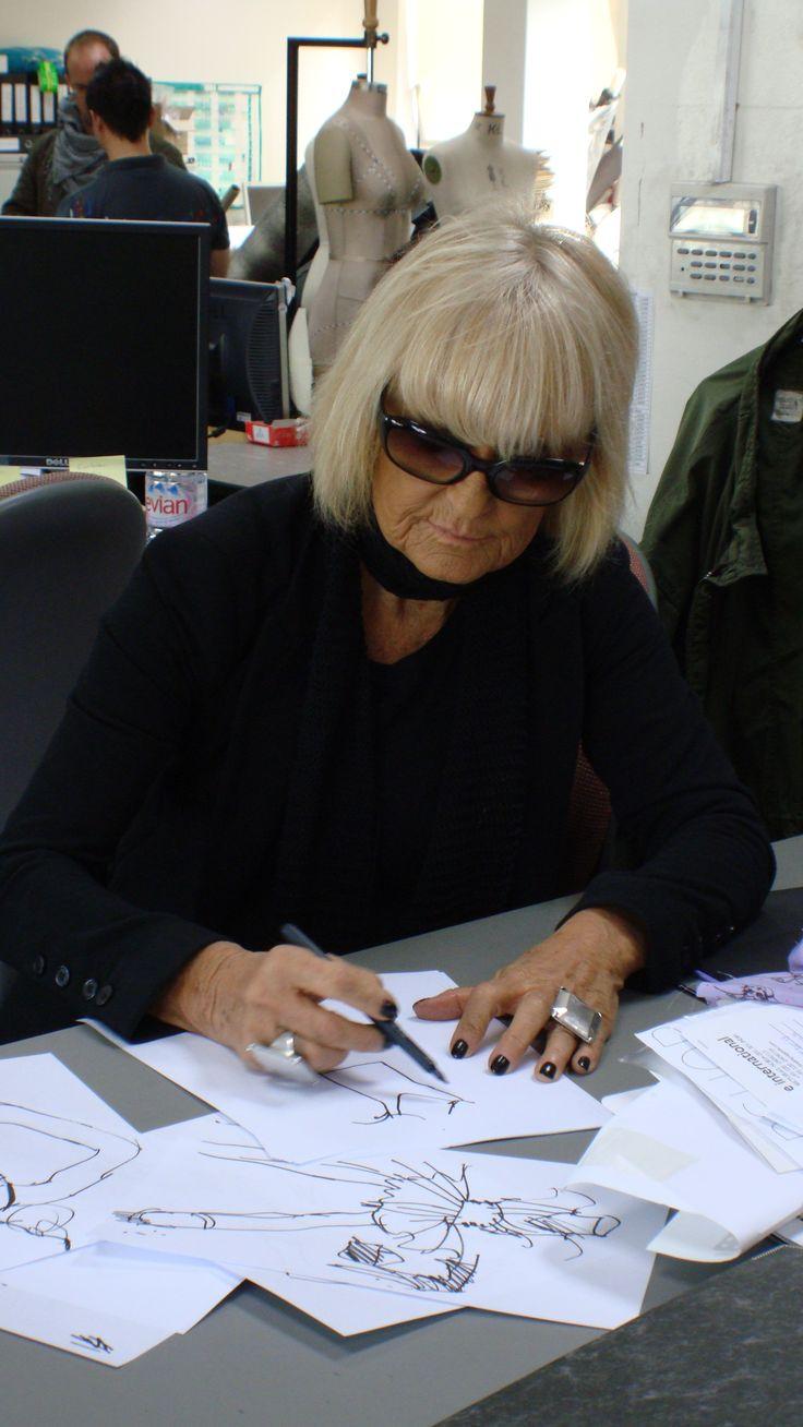 Barbara Hulanicki sketching