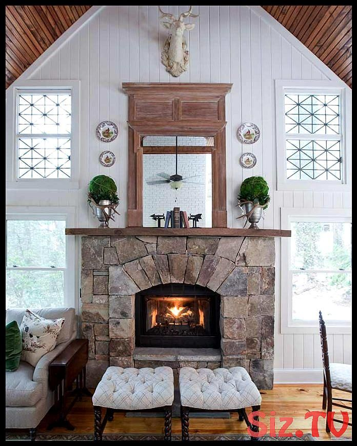 The Most Beautiful Mountain Lodge Fireplaces The Most Beautiful Mountain Lodge Fireplaces This Roundup Of Fireplaces Cottage Fireplace Country House Decor Home