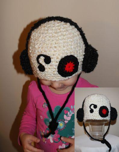 Record DJ Crochet Hat