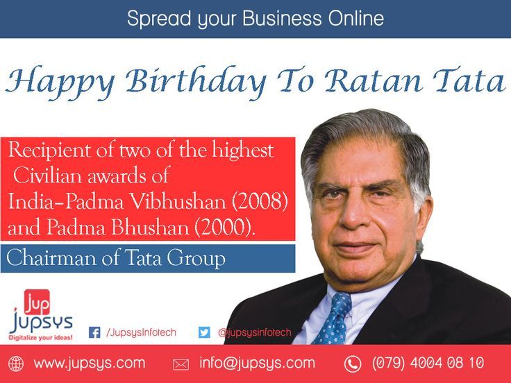 """If you want to walk fast, walk alone. But if you want to walk far, walk together."" Happy Birthday to Ratan Tata - wishes by #jupsys #jupsysinfotech #happybirthday #ratantata #tata"