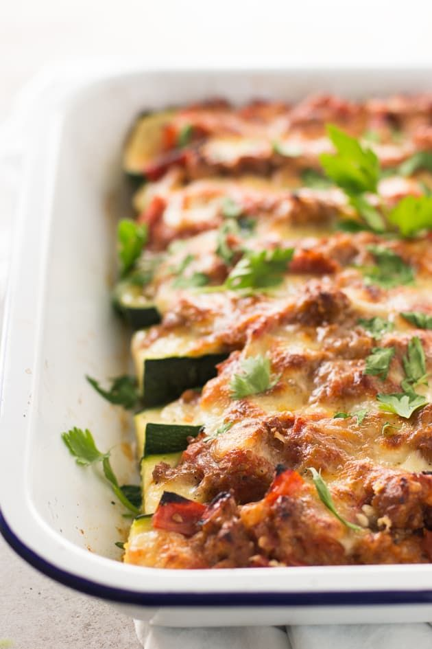 Italian Sausage Stuffed Zucchini Boats is a delicious way to serve your family zucchini. They'll love it and ask for it again and again!