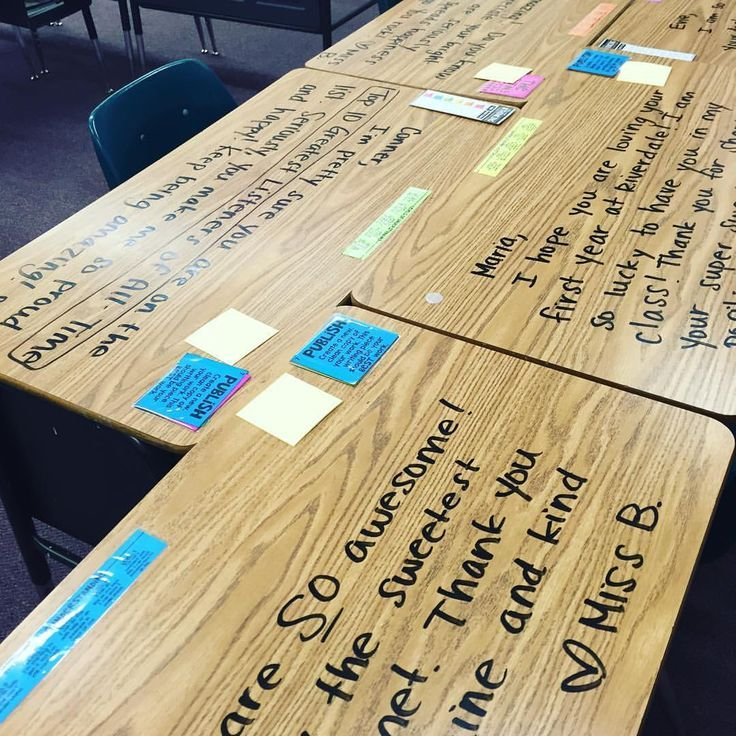 Write on students' desks for a positive, meaningful mood booster! See this Instagram photo by @miss5th • 2,336 likes