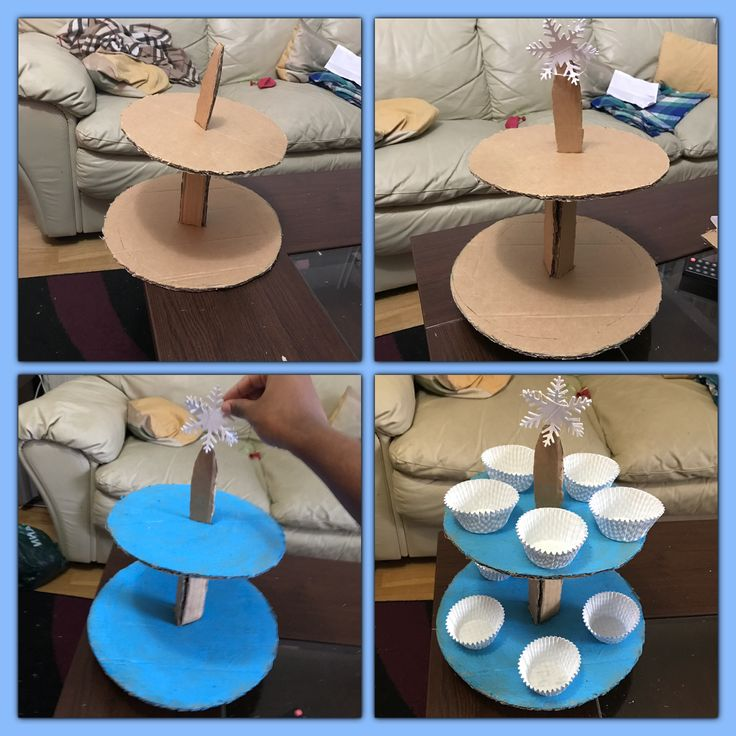 DIT 2 tier cake stand ❄️