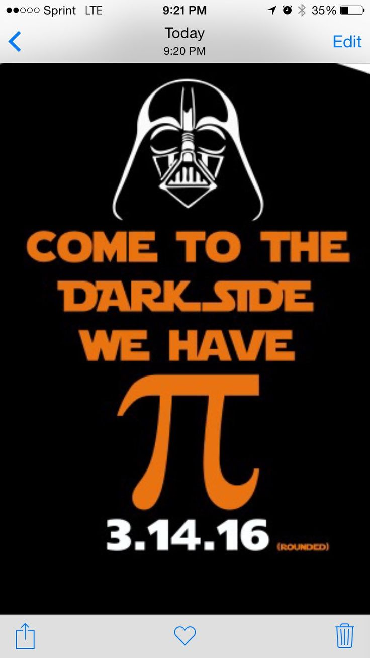 Pi Day Shirt come to the dark side we have Pi by Destined4Destin on Etsy