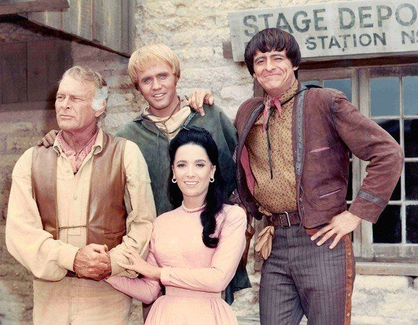 "High Chaparral TV Show Cast | Henry Darrow, right, with ""High Chaparral"" co-stars Leif Erickson ..."