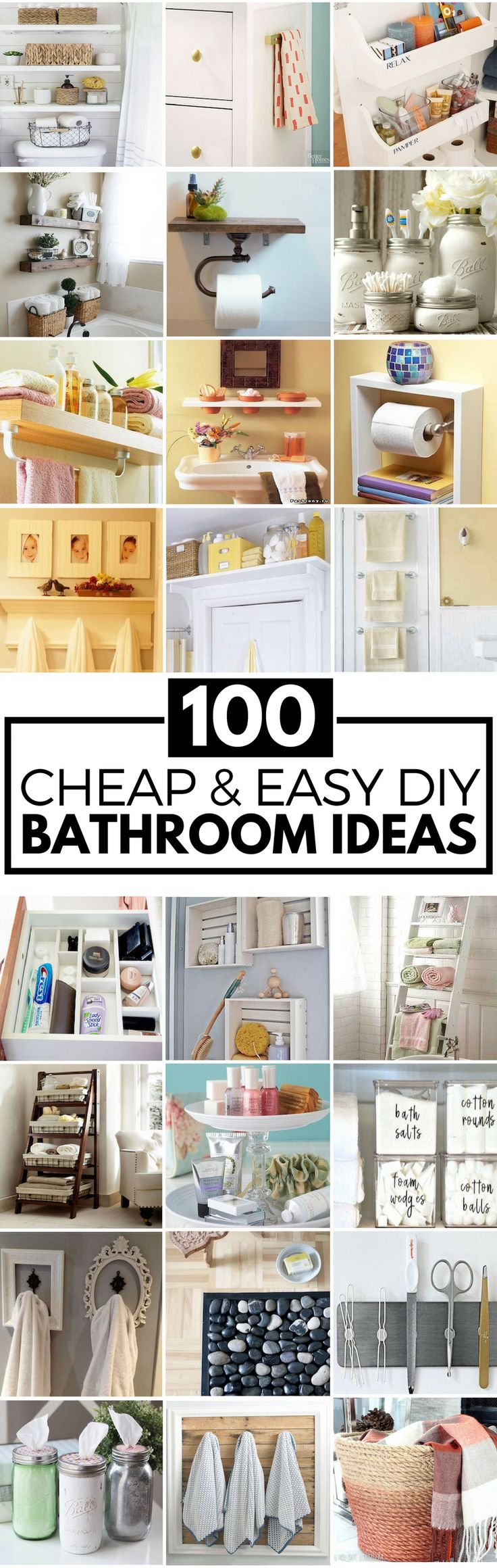 100 Cheap and Easy DIY Bathroom Ideas
