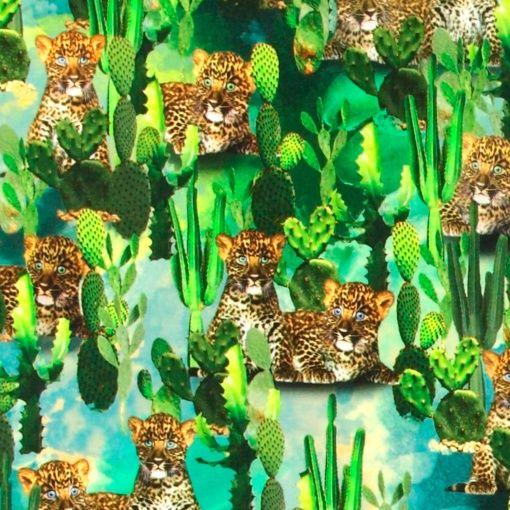 Stretch jersey baby leopard print - Stoff & Stil