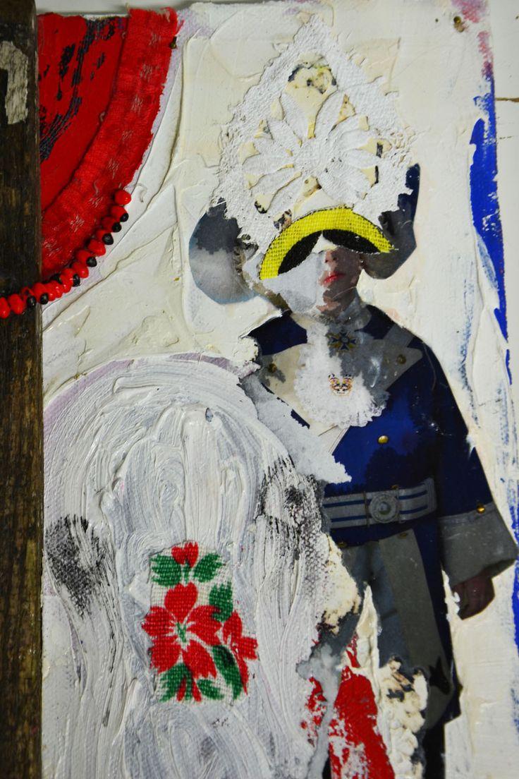 Help! detail, mixed media, 2015, Annukka Mikkola