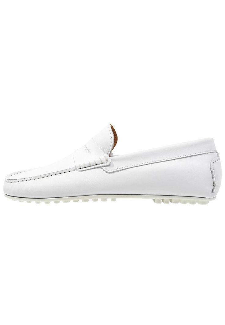 Hardrige FARO Mokasyny męskie białe blanc