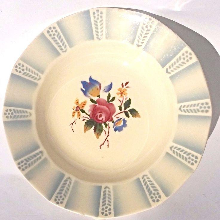 5 Assiette Ancienne Lot Sarreguemines France Gris Bleu Fleur Creuse Suppenteller