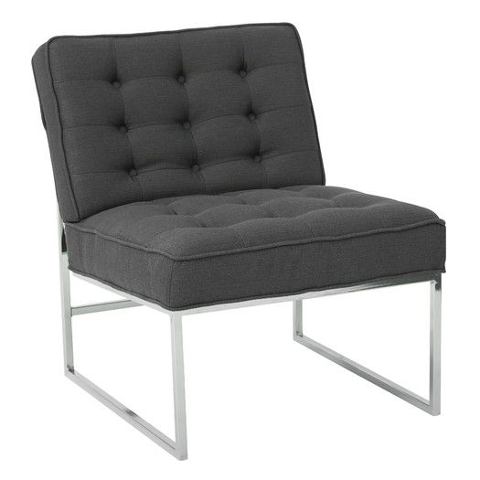 featuring a modern chrome base this ave six anthony tufted fauxleather chair lends the look of luxury with a upgrade