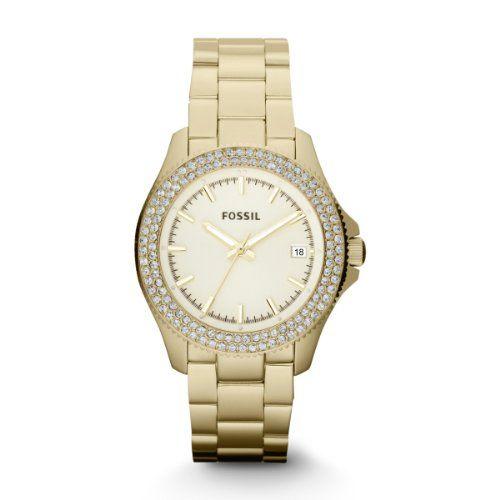 Fossil Damen-Armbanduhr Analog Quarz Edelstahl beschichtet AM4453