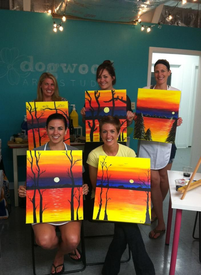 Valeries Painting Party To Book A Wine And Painting Party Email We Know How To Do It