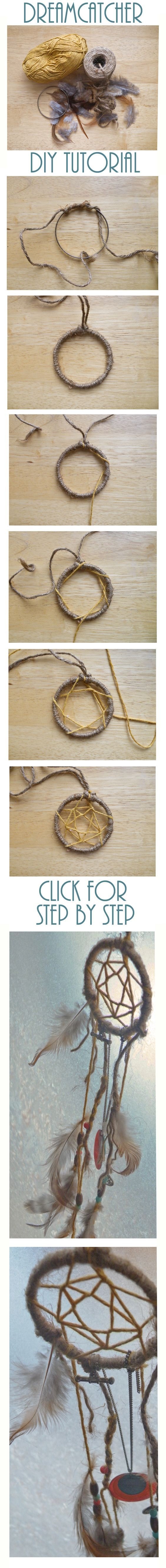 DREAM CATCHER -earthier design  *a star in a star in a star...: