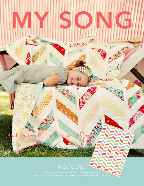 Quilt Pattern // My Song from For The Love Of Joy Jacks new quilt pattern......not the colors tho.  Lol