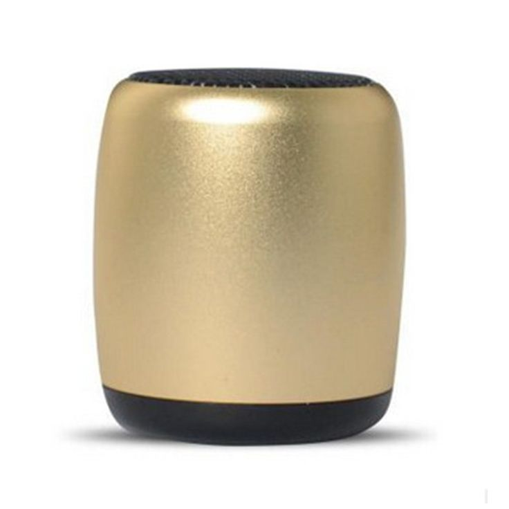 Tiger C Mini Subwoofer Portable Wireless Bluetooth Speaker for Outdoor Gold. Size about 36.8x36.8x43mm,weight about 0.15 kg. It can be played about 6 hours on full charge. It's easy to carry out for outside activities. Small size but this mini speaker with great,clear and loud 3D sound. Bluetooth self-timer,hand-free call,voice prompts,FM radio,support TF card.