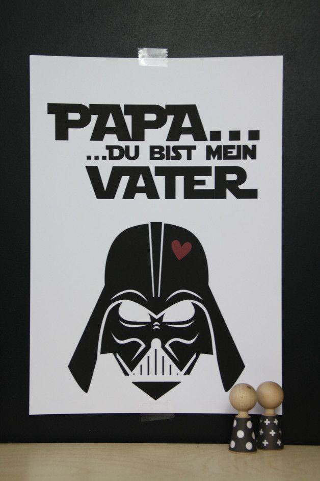 Dekoration   Kunstdruck Darth Vader / Star Wars   Ein Designerstück Von  LaPetitePapeteriePaul Bei DaWanda