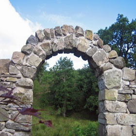 Mill Garden Centre: Dry Stone Wall And Archway