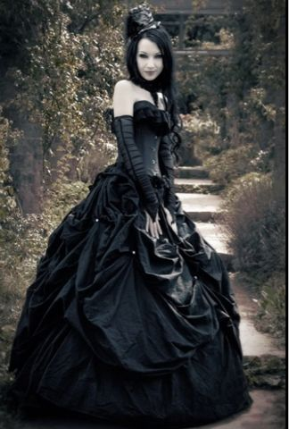 #Gothic wedding dress. Visit http://www.designyourownperfume.co.uk to create perfume as unique as you are:)