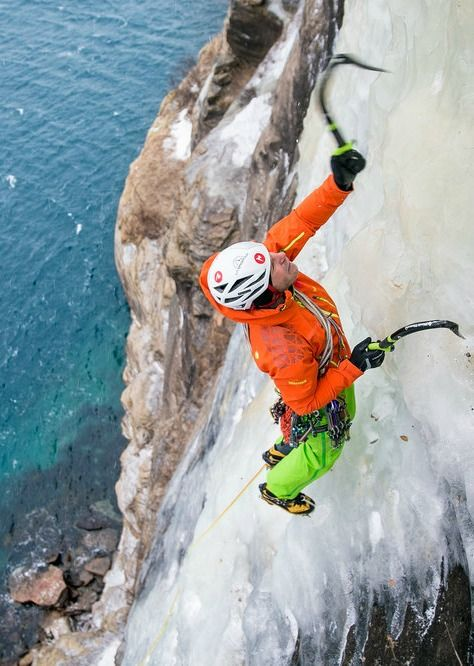 Just hanging out on Norway's sea cliffs.