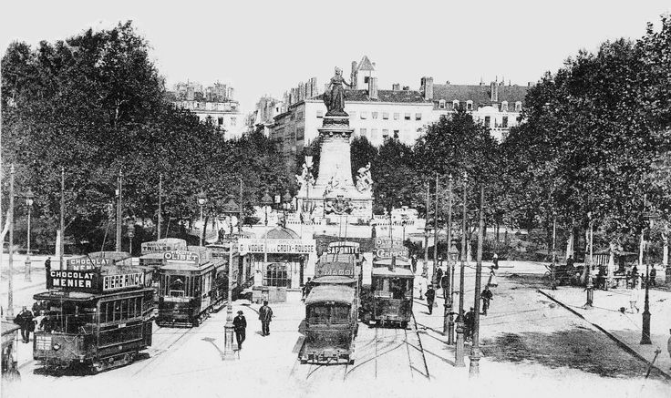 LYON Tramways Terminus des tramways au début du XXeme siecle