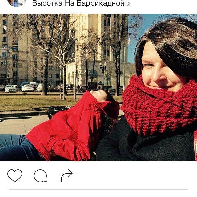 Путешественница и красотка Марина рассекает по Москве в шарфе от #КЛМН ❤️❤️❤️ спасибо за #клмн_отзывы