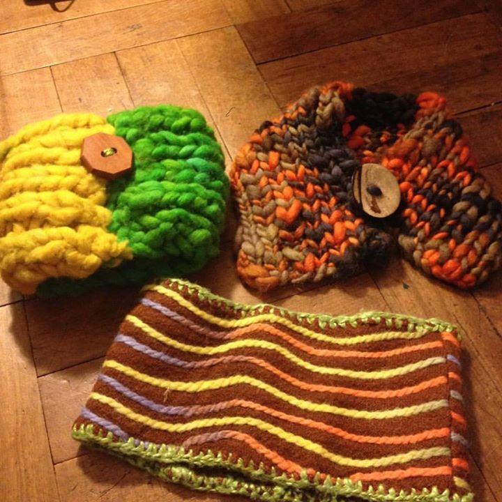 Cuellos de lana y fieltro