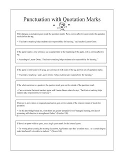 Classroom Freebies Too: Punctuation with Quotation Marks