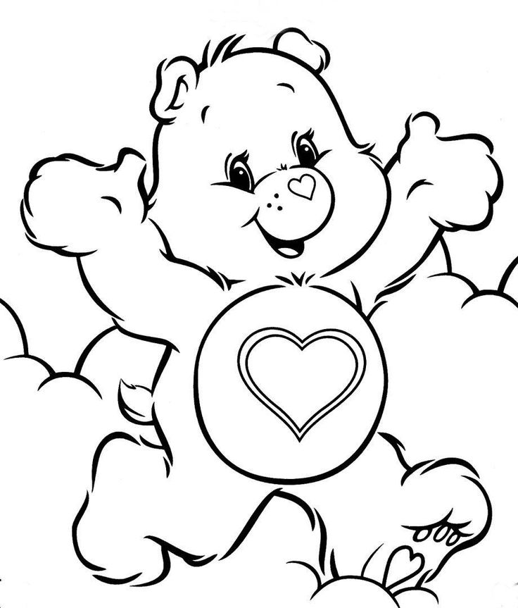 Christmas Coloring Pages Colouring Free Care Bears 1st Grades To Color In Printable