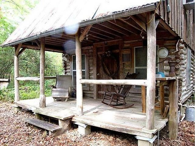 Small Rustic Log Cabin Address: 8372 Hwy 92 N, Spurger,TX, 1B, 1B, 384 sf, has electricity (1 window a/c in the bedroom upstairs, stove, but no running water; outhouse is just steps away. Unrestricted 2 acres. Back to nature. Rustic log camphouse in the woods with few modern conveniences, surrounded by the beauty of the forest, where wildlife abounds. Kitchenette w/electric range, mini-frig. Rest on the covered porch, or enjoy the firepit and the songs of nature.