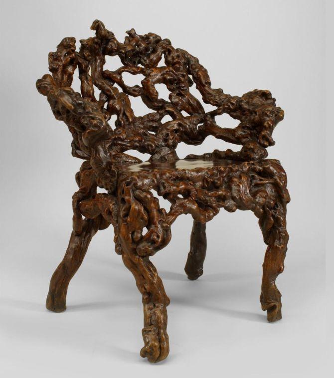 Необычная мебель из корней и коряг, 18-20 век   Terra-Z