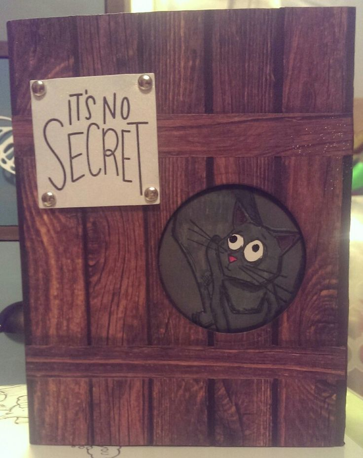 Tim Holtz/Stampin up it's no Secret card