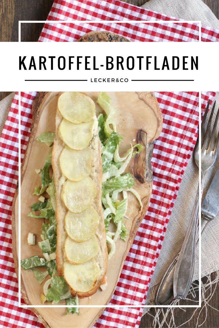 Kartoffel-Brotfladen mit Apfel-Fenchel-Blattsalat | Vegetarisch