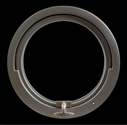Ojo de Buey basculante de 400/b monobloque de aluminio