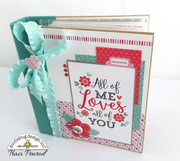 Artsy Albums Scrapbooking Kits and Custom Designed Scrapbook Albums by Traci Penrod: Doodlebug Sweet Things Mini Album