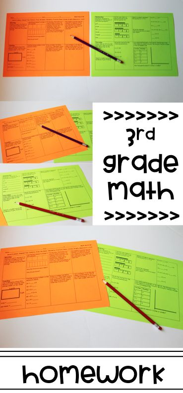 3rd grade math homework for the entire school year! Standards build progressively! Great for spiral review.