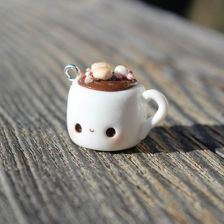 #kawaii #charms #polymer #clay #hot #chocolate #mug #charm