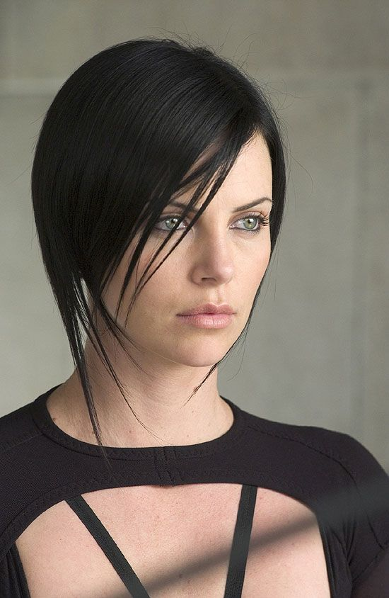 Charlize Theron with dark hair - Aeon Flux