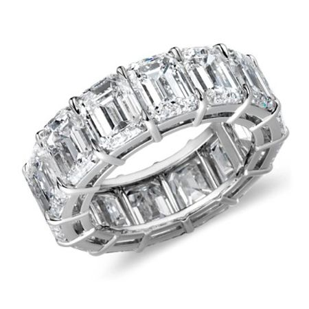 2.5 Carat Emerald Cut Diamond Eternity Bands....Krista, now all you need is this for your wedding band! Lol