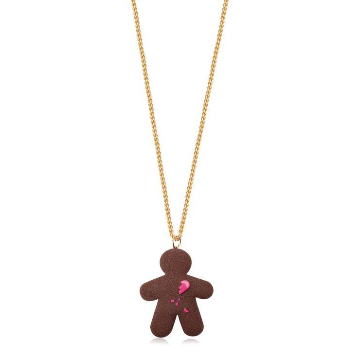 """Chocokate, naszyjnik """"złamane serce"""" z masy plastycznej. #jewelery #handmade #galeriayes #chocokate #polish #design #neckles #sweet www.galeriayes.pl"""
